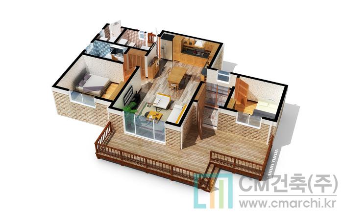 시골 부모님을 위한 83.39㎡ 25평 소형 전원주택 설계도면