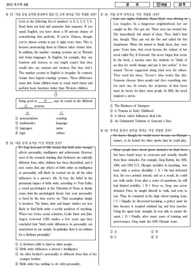 9급공무원 영어 기출문제,출제범위, 영어시험 준비방법